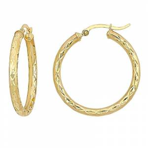 Stella Grace 10k Gold 32 mm Hoop Earrings, Women's