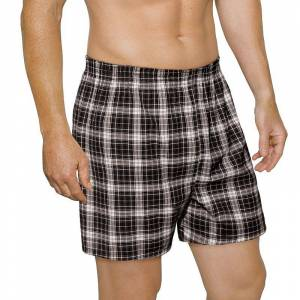 Men's Fruit of the Loom Signature 5-pack Relaxed-Fit Boxers, Size: Medium, Black