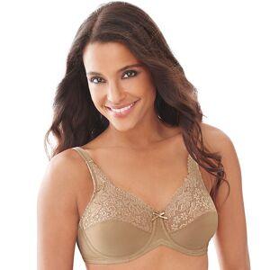Lilyette by Bali Bra: Comfort Lace Full-Figure Minimizer Bra 428 - Women's, Size: 42 D, Beig/Green