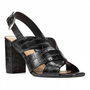 Nine West Jordana Women's Slingback Block Heel Sandals, Size: 6, Black