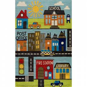 Momeni Lil Mo Whimsy Town Rug, Multicolor, 2X3 Ft