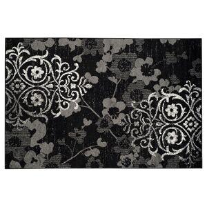 Safavieh Adirondack Tamara Floral Rug, Black, 2.5X12 Ft