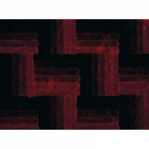 United Weavers Finesse Flagstone Geometric Shag Rug, Red, 2X3 Ft
