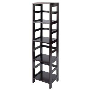 Winsome Leo 4-Tier Storage Shelf, Brown, Furniture