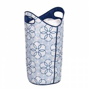 Household Essentials Magic Rings Softside Laundry Hamper, Blue