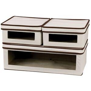Household Essentials Vision 3-pc. Lidded Storage Box Set, Beig/Green