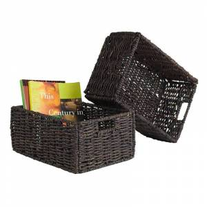 Winsome Granville 2-piece Foldable Basket Set, Brown, Furniture
