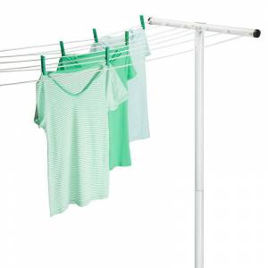 Honey-Can-Do 7 Line T-Post Outdoor Dryer, Adult Unisex, Size: DRY RACK, White
