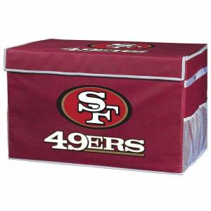 Franklin Sports San Francisco 49ers Small Collapsible Footlocker Storage Bin, Team