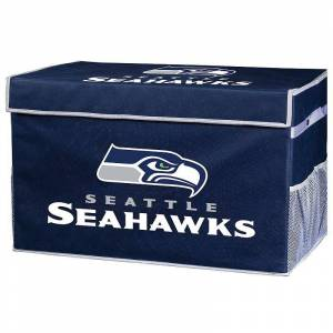 Franklin Sports Seattle Seahawks Small Collapsible Footlocker Storage Bin, Team