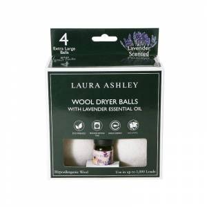 Laura Ashley 4-pack Wool Dryer Balls & Lavender Essential Oil Kit, Adult Unisex, Size: Set