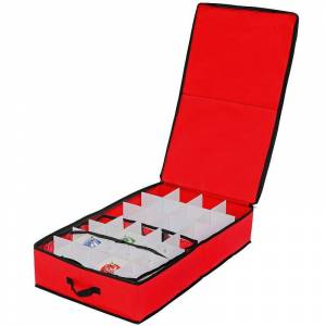 National Tree Company Medium Ornaments Storage Bag, Red