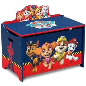 Nickelodeon PAW Patrol Deluxe Toy Box by Delta Children, Blue