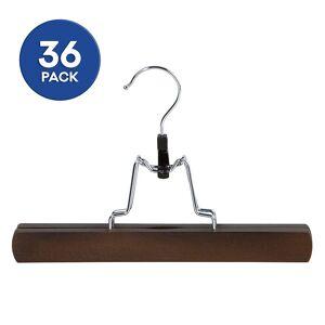 Richards Homewares Ant Mahogany Trouser Clamp Hanger 36-piece Set, HANGERS
