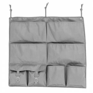 Honey-Can-Do 2-In-One Bed Organizer, Grey