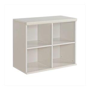 Quad Stackable Quad Bookcase, White
