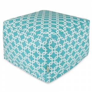 Majestic Home Goods Links Indoor Outdoor Large Ottoman, Blue