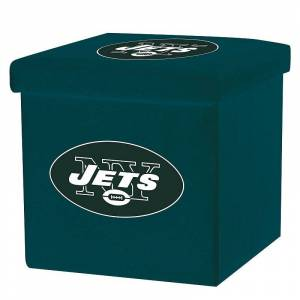 Franklin Sports New York Jets Storage Ottoman with Detachable Lid, Team