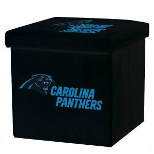 Franklin Sports Carolina Panthers Storage Ottoman with Detachable Lid, Team