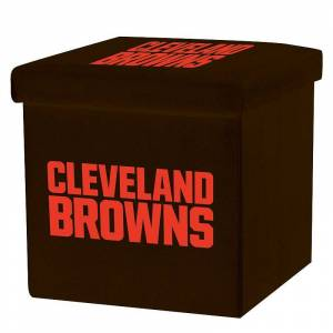 Franklin Sports Cleveland Browns Storage Ottoman with Detachable Lid, Team