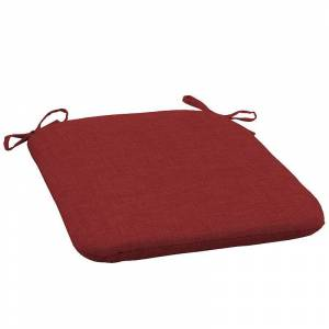 Arden Selections 2-pack Outdoor Seat Pad Set, Red, 18X19