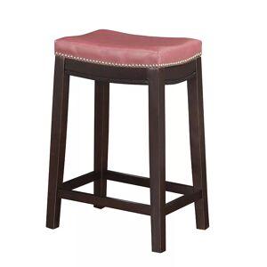 Linon Allure Counter Stool, Red