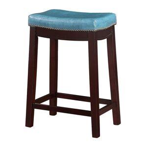 Linon Allure Counter Stool, Blue