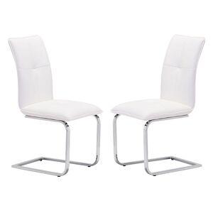 Zuo Modern 2-piece Anjou Dining Chair Set, White
