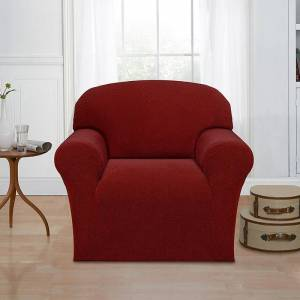 Madison Mason Chair Slipcover, Dark Red, Armchair