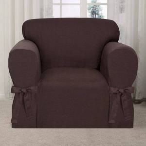 Kathy Ireland Garden Retreat Chair Slipcover, Dark Brown, CHARSLPCVR