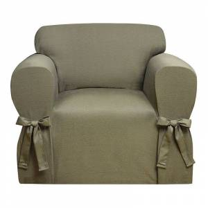 Kathy Ireland Garden Retreat Chair Slipcover, Med Green, CHARSLPCVR