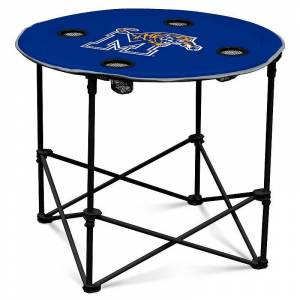 Memphis Tigers Portable Round Table, Blue