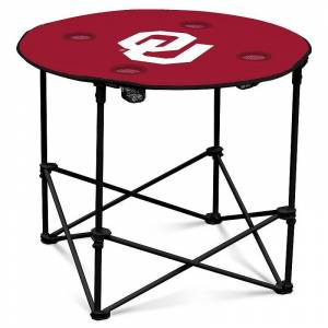 Oklahoma Sooners Portable Round Table, Red