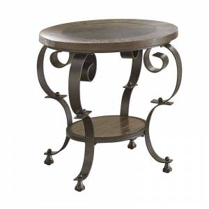 Steve Silver Co. Steve Silver Mulberry Round End Table, Brown