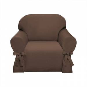 Madison Lucerne Slipcover Chair, Brown, Armchair