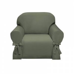 Madison Lucerne Slipcover Chair, Green, Armchair