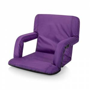 Picnic Time Ventura Reclining Stadium Seat, Purple