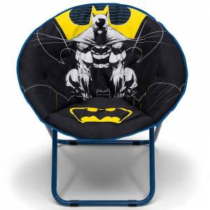 DC Comics Batman Saucer Chair for Kids to Young Adults by Delta Children