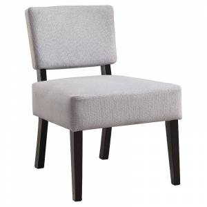 Monarch Upholstered Slipper Accent Chair, Grey