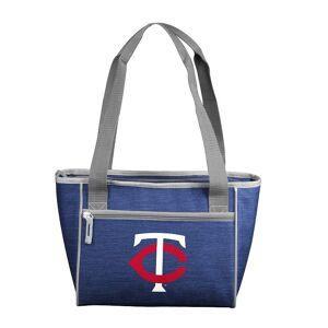 Logo Brand Minnesota Twins Crosshatch 16-Can Cooler Tote, Blue