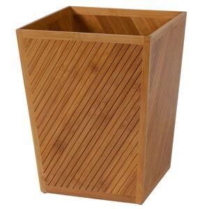 Creative Labs Bath Spa Bamboo Wastebasket, Brown