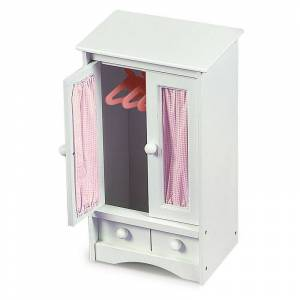 Badger Basket Doll Armoire, Pink