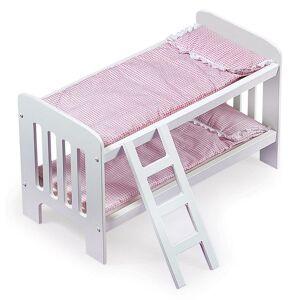 Badger Basket Doll Bunk Bed with Ladder, Pink