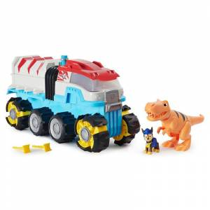 Spin Master PAW Patrol Dino Rescue Dino Patroller Motorized Team Vehicle with Exclusive Chase and T. Rex Figures