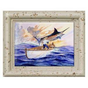 Guy Harvey Ceramic Tile Art - The Old Man and the Sea