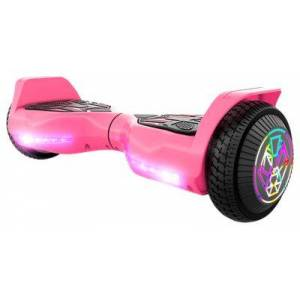 SWAGTRON T580 TWIST Hoverboard for Kids with Light-Up LED Wheels - Pink