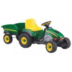 Peg Perego Peg-Perego John Deere Farm Tractor and Trailer Pedal Ride-On Toy for Kids