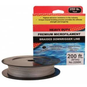 Scotty Premium Braided Dyneema Downrigger Line - w/Terminal Fastening Kit - 200'