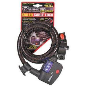 Trimax Trimaflex Security LED Combination Cable Lock with Bracket