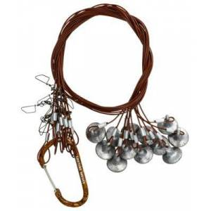Lifetime Decoys Coated-Cable Texas Rigs with Carabiner